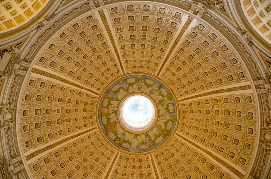 Dome above Main Reading Room, Jefferson Building, Library of Congress, Washington, DC