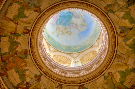 Mural in the dome of the Main Reading Room, Jefferson Building, Library of Congress