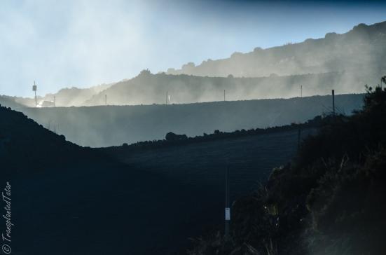 Road up to Mauna Kea summit, Hawaii