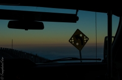 Driving up to the summit of Mauna Kea