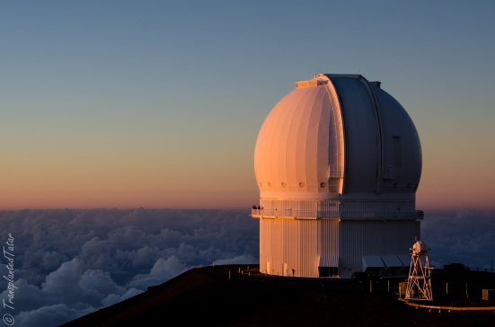 Canada-France-Hawaii Telescope at sunset, Mauna Kea, Big Island, Hawaii