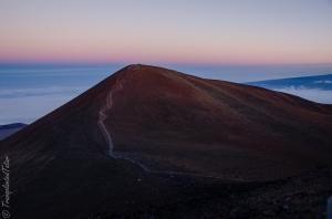 The sacred peak of Mauna Kea, Hawaii