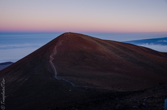 The sacred peak of Mauna Kea, Hawaii