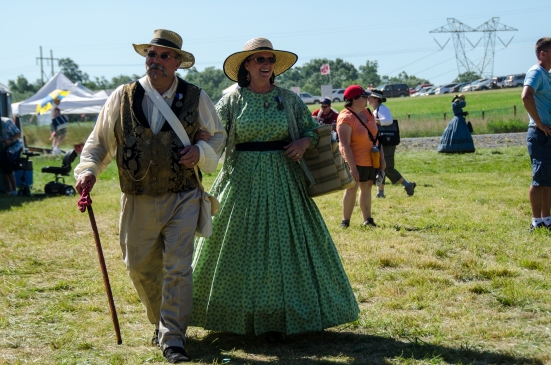 Costumed spectators, 150th Anniversary Reenactment of the Battle of Gettysburg, July 2013