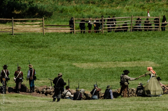 Battle reenactment, 150th Anniversary, Battle of Gettysburg