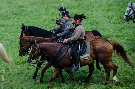Reenactors leaving the field, After the battle, Gettysburg 150th Anniversary Battle Reenactment