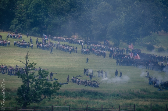 Field demonstration, 50th Anniversary Reenactment of the Battle of Gettysburg, July 2013
