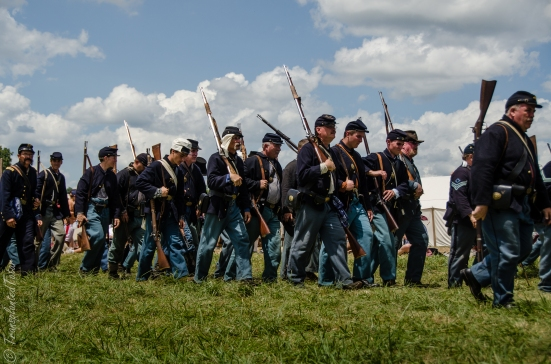 Troops returning, 150th Anniversary Battle of Gettysburg Reenactment
