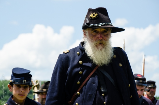 Bearded reenactor, faces of the 150th Anniversary Gettysburg Battle Reenactment