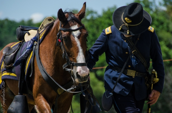 A man and his horse, 150th Anniversary Gettysburg Battle Reenactment