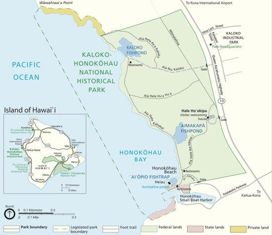 Kaloko-Honokohau National Historical Park map (www.nps.gov/kaho)