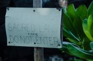 sign near Ahu'ena Heiau, Kona, Hawaii