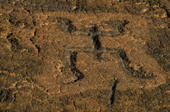 One of the carvings at the Puako Petroglyph Archaeological Preserve, Hawaii
