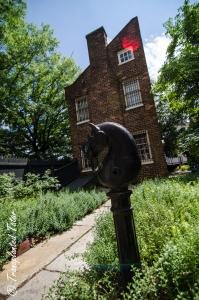 Interior garden of Richmond's Poe Museum