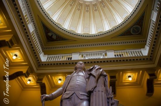 Stature of George Washington at Virginia Capitol