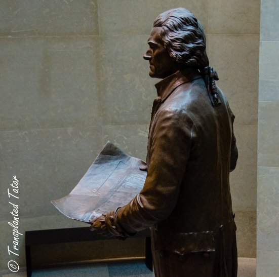 Thomas Jefferson with plans for Virginia Capitol