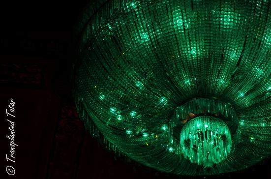 crystal chandelier in Byrd Theatre, Richmond, Virginia