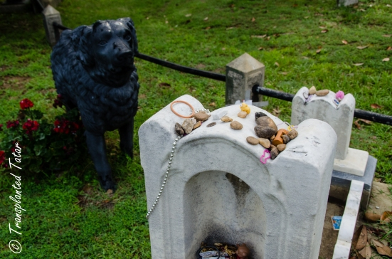 A little girl's grave with Iron Dog, Hollywood Cemetery, Richmond