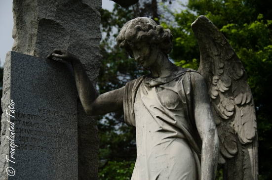Angel grave sculpture, Hollywood Cemetery, Richmond, VA