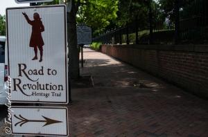 Signs to historic St. John's Church, Richmond, Virginia