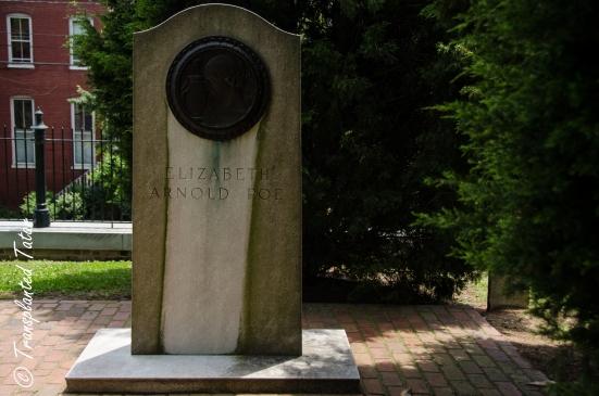 Grave stone of Poe's mother, St. John Churc, Richmond