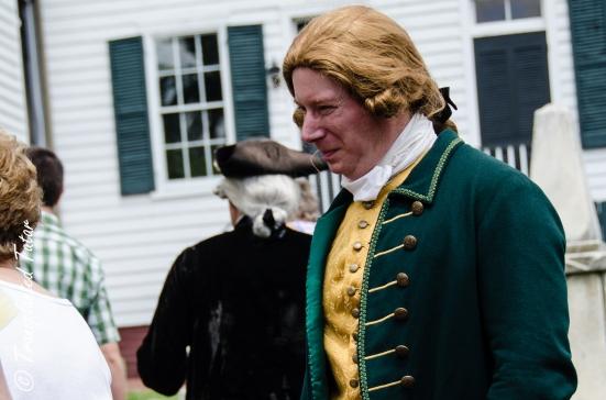 Reenactor of Thomas Jefferson at St. John's Church, Richmond, Virginia