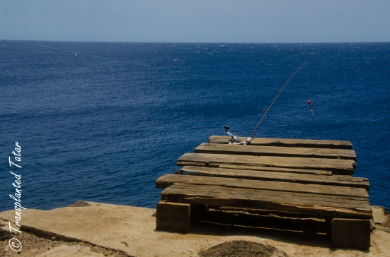 Fishing at South Point, Big Island, Hawaii