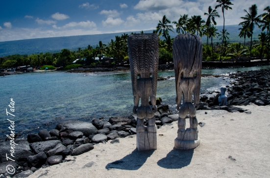 Carvings, Place of Refuge, Big Island, Hawaii