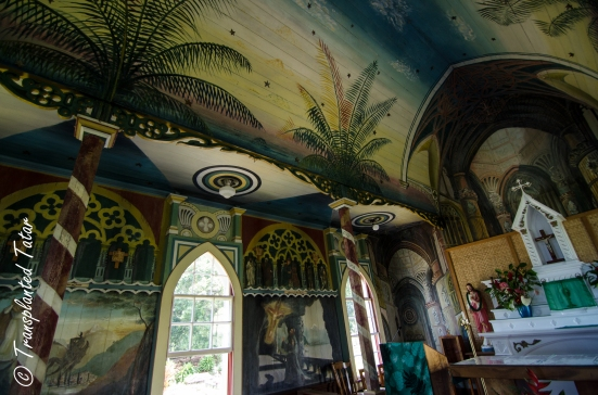 Walls and Ceiling of Painted Church, Hawaii