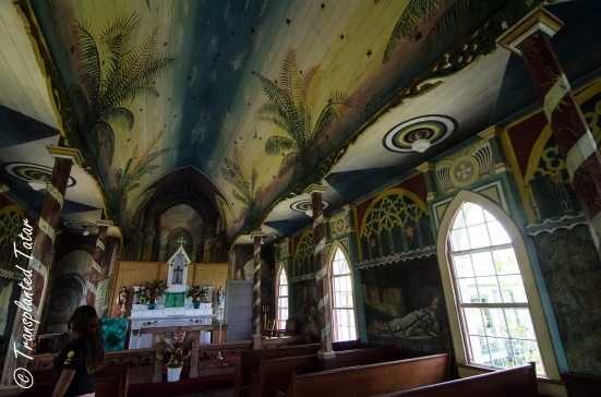 Walls and ceiling, Painted Church, Hawaii