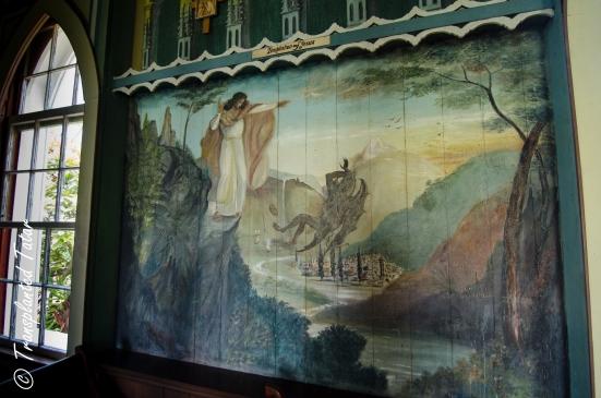 Temptation of Jesus, Painted Church, Big Island, Hawaii