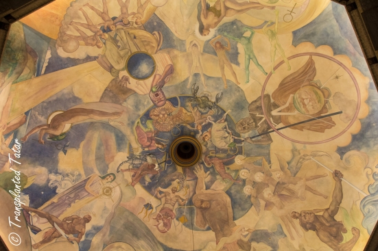 the ceiling inside the Griffith Observatory, Los Angeles