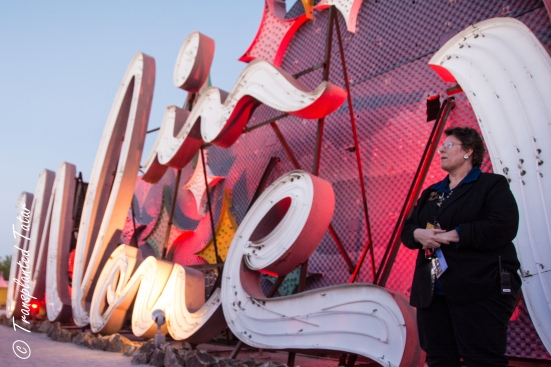 Tour at the Las Vegas Neon Museum at dusk