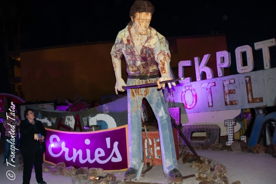 Pool Player from Doc and Eddy's, Neon Museum