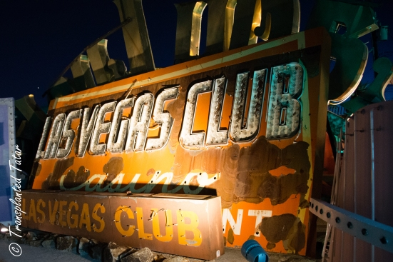 Lit up signs at the Las Vegas Neon Museum