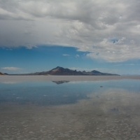 Bonneville Salt Flats: Walking in the Sky