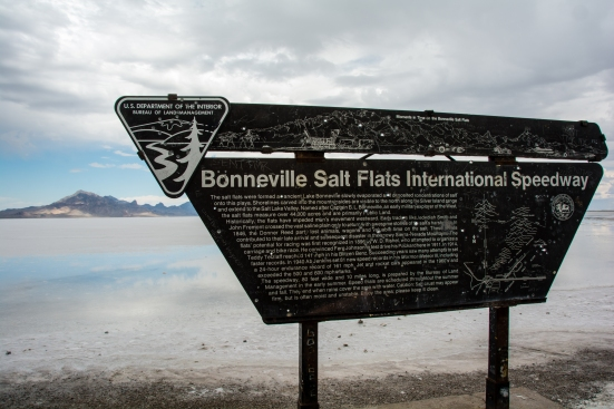 Sign leading to Bonneville Salt Flats International Speedway, Utah
