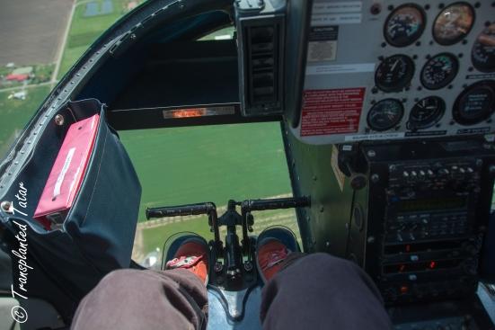 Feet window, Helicopter to Niagara Falls, Canada