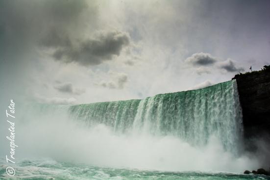 Horseshoe Falls from boat, Niagara Falls, Canada