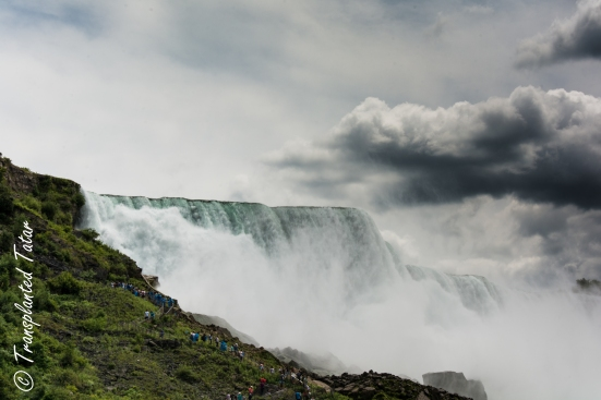 American Falls, view from the boat, Canada