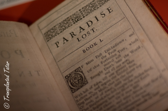Paradise Lost first issue, Huntington Library, Los Angeles