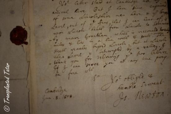 Sir Isaac Newton's signature, Huntington Library