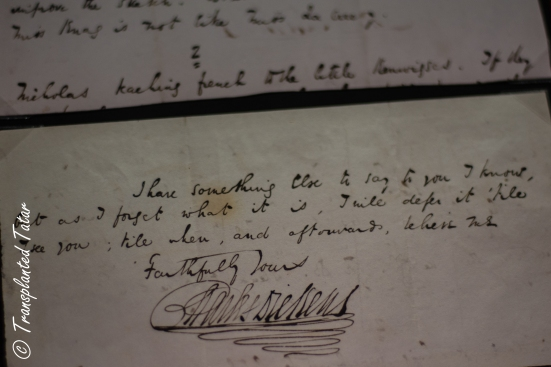 Letter from Charles Dickens, Huntington Library