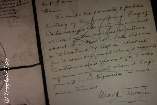 Mark Twain's signature, Huntington Library