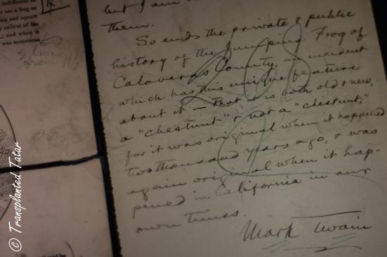 Mark Twain's signature, Huntington Library