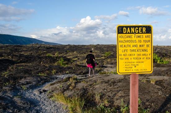 To the petroglyphs, Hawai'i Volcanoes National Park