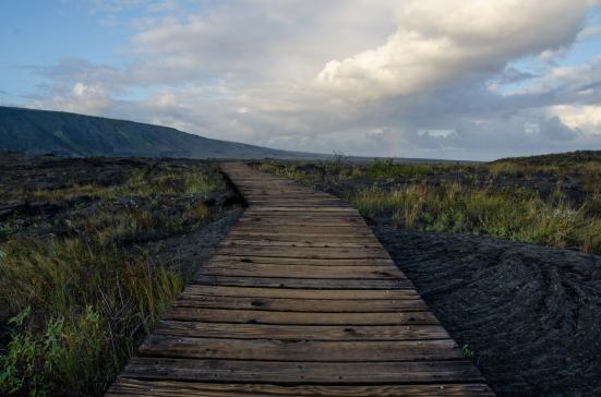 Boardwalk through Petroglyphs, Hawai'i Volcanoes National Park