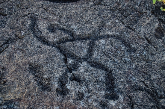 Petroglyph, Hawai'i Volcanoes National Park