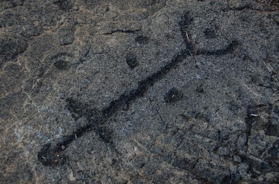 Petroglyph, Puu Loa Trail, Hawaii Volcanoes National Park