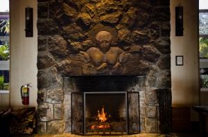 Pele fireplace, Volcano House, Hawaii